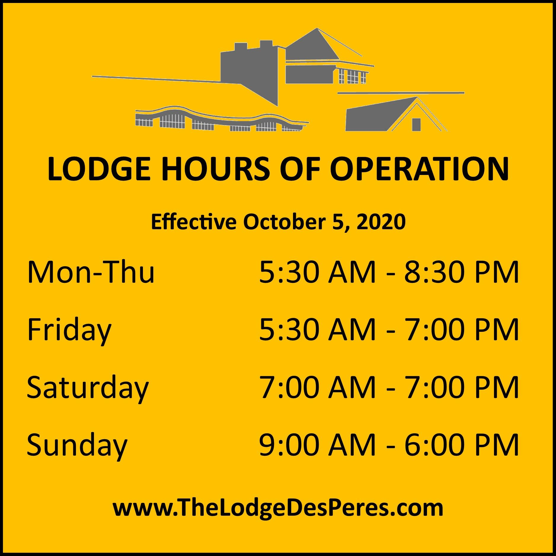 2020-10-05 Lodge Hours of Operation