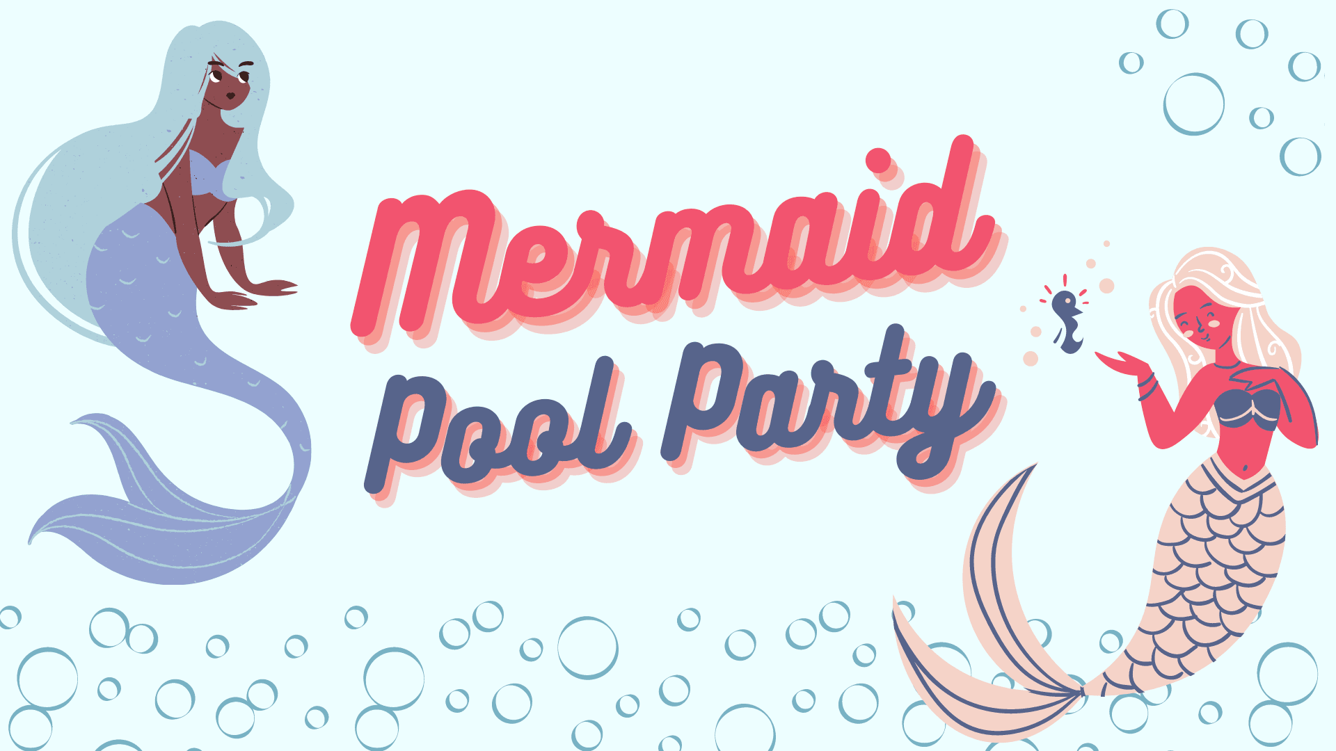 Mermaid pool party